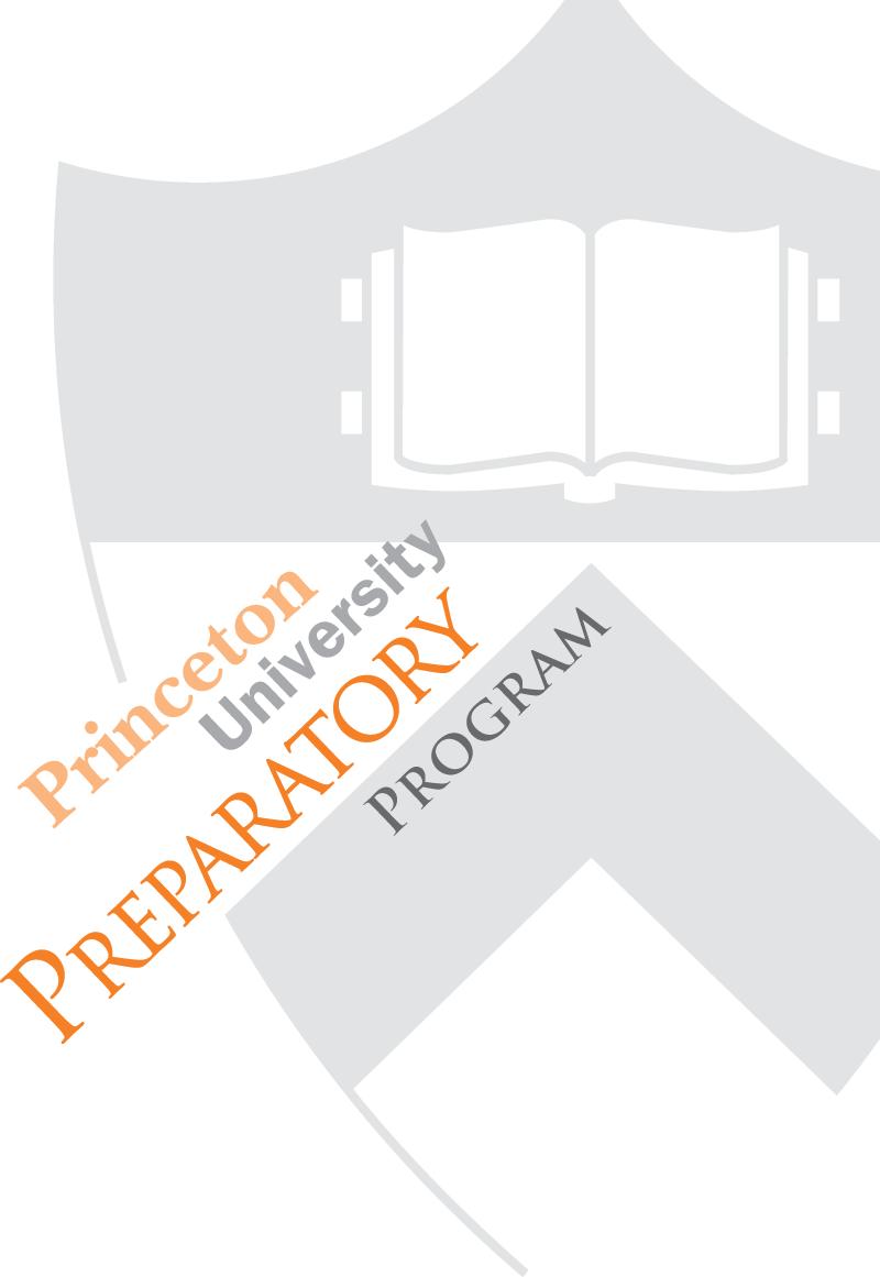 Princeton University Preparatory Program Logo